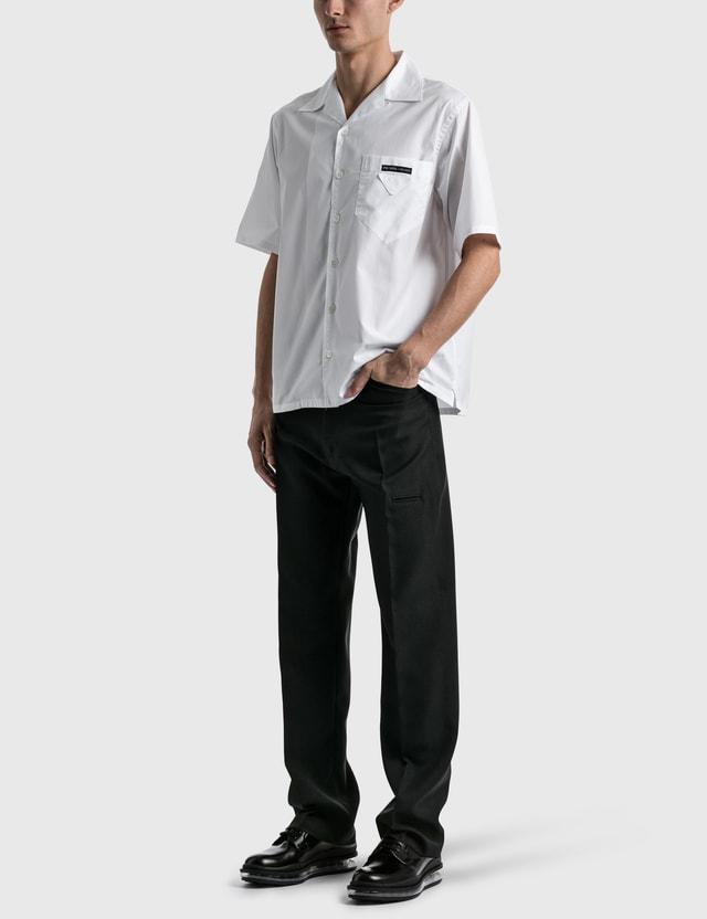 Prada Pocket Poplin Shirt Bianco Men