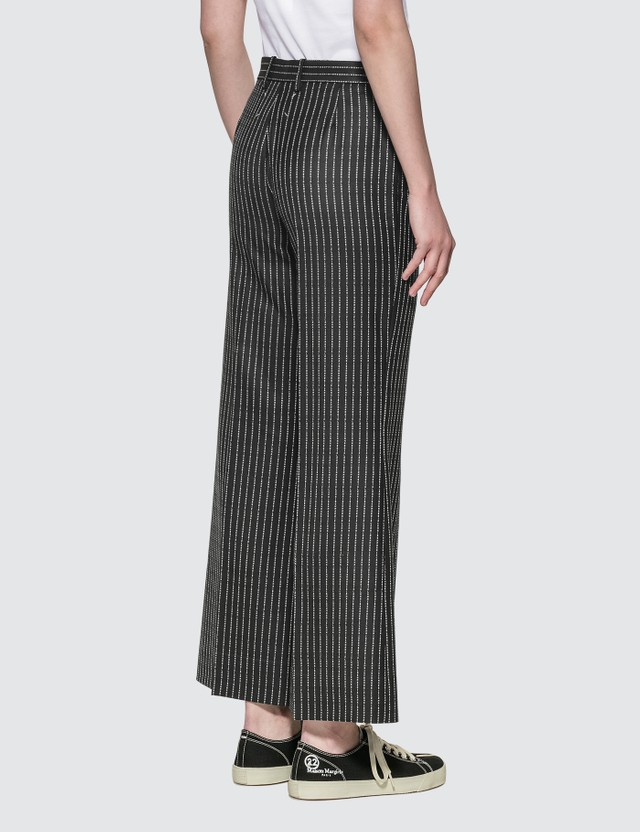 Maison Margiela Wool Stripe Margiela Logo Pants