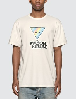 Maison Kitsune Rainbow Triangle Fox Print T-shirt
