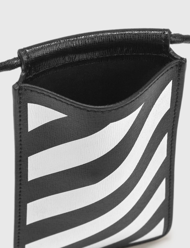 Off-White Diag Saffiano Neck Pouch Black Men