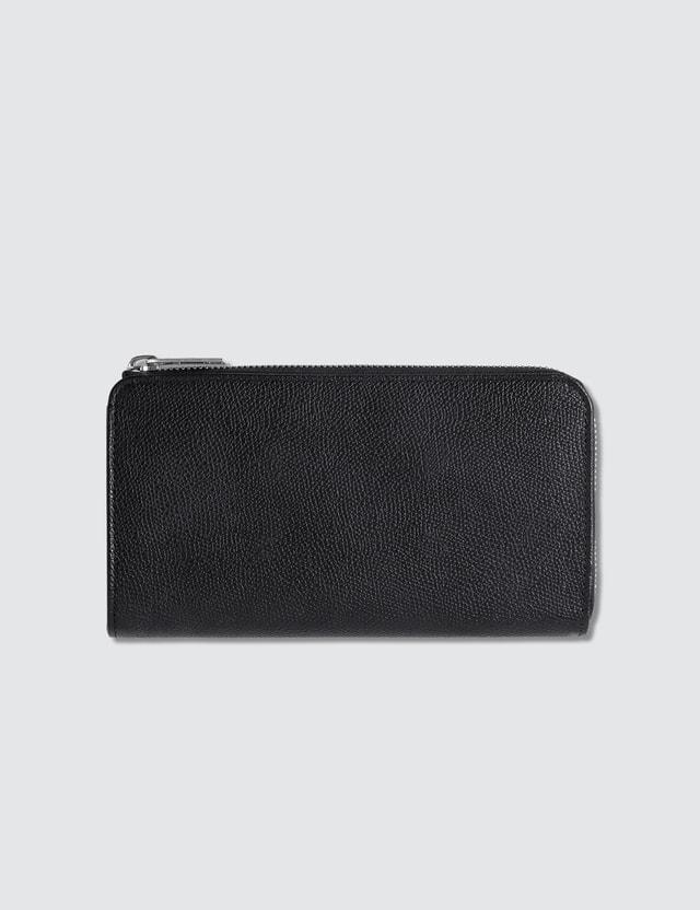 Maison Margiela Grain Leather Zip Around Long Wallet