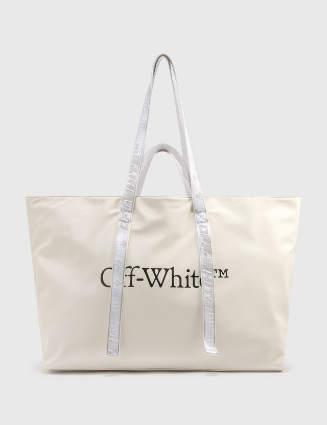 Off-White Nylon Commercial Tote White Black Women