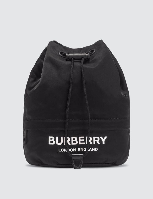 Burberry Nylon Logo Drawcord Pouch
