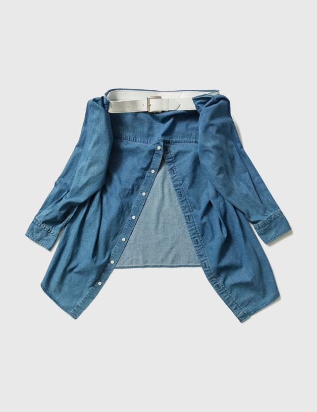 PHENOMENON Phenomenon Denim Shirt Waist Porch Blue Men