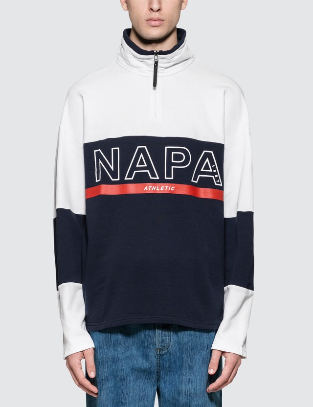 Napapijri Silver Logo Pullover Jacket White / Blue Men