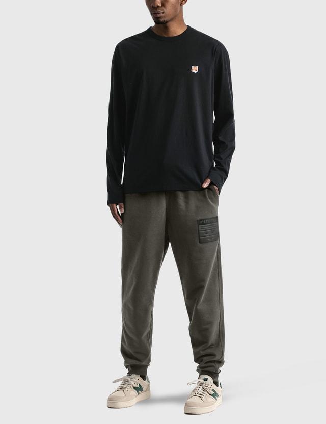 Maison Kitsune Fox Head Patch Long Sleeve T-shirt Black Men