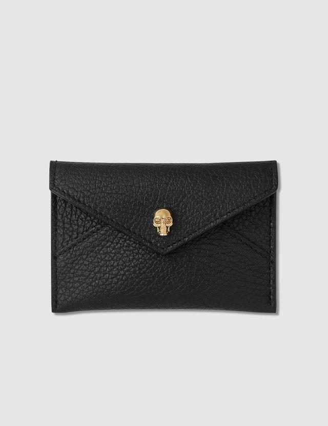 Alexander McQueen Grain Leather Envelope Card Holder