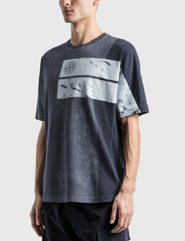 Stone Island Dust One T-Shirt Bleu Marine Men