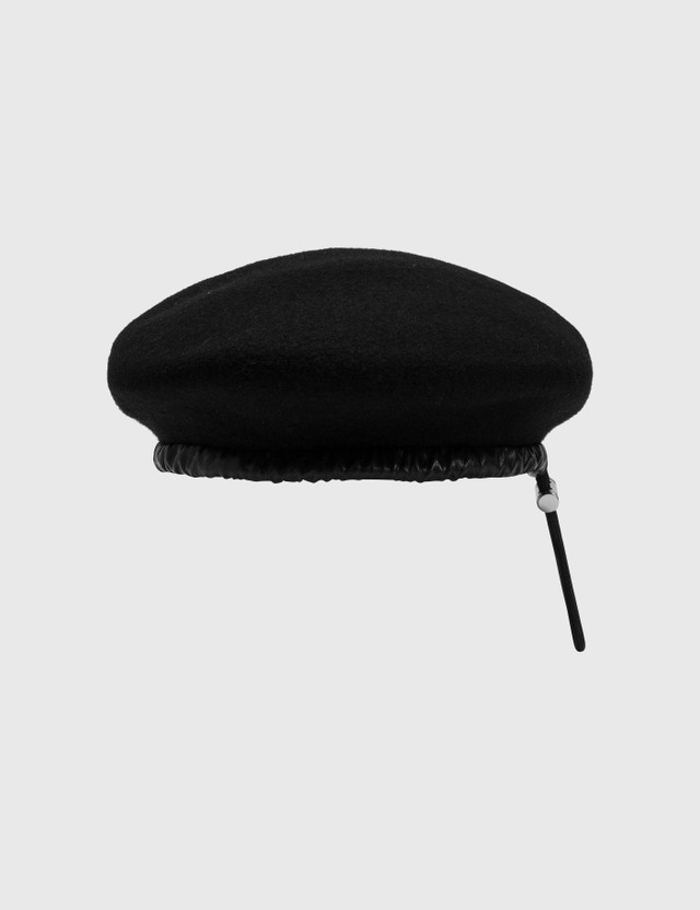 Misbhv Monogram Beret Black Women