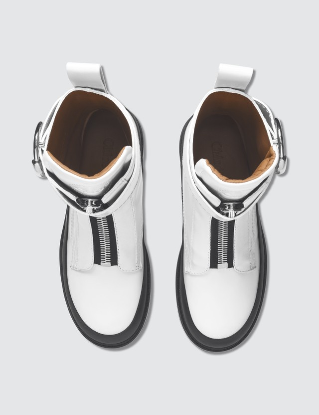 Chloé Roy Ankle Boots Natural White Women