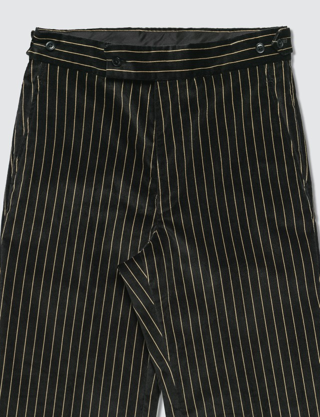 Needles Stripe Velveteen Side Tab Trouser