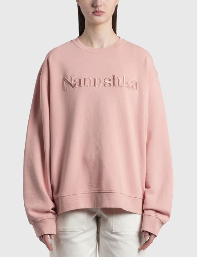 Nanushka Remy Logo Sweatshirt Pink Women