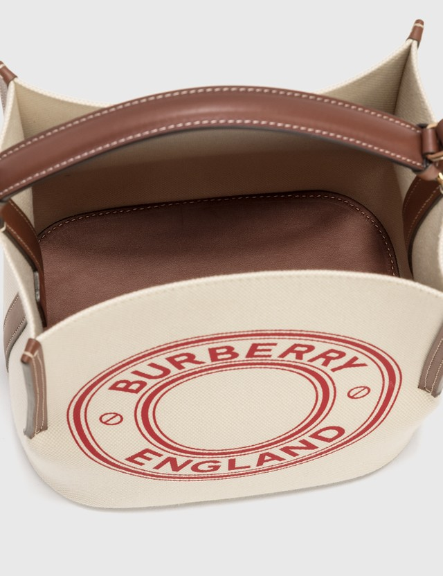 Burberry Small Peggy Bucket Bag Natural/tan/pinkbubb Women