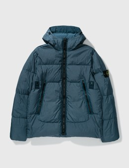 Stone Island Garment Dyed Crinkle Reps Padded Down Jacket