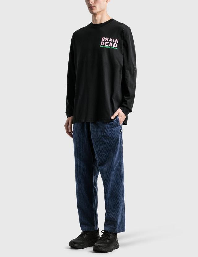 Brain Dead Sinking Feeling Long Sleeve T-Shirt Black Men