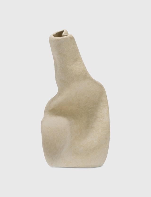 Completedworks Wake Ceramic Vase Textured Beige Unisex