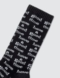 Have A Good Time Logo All Over Socks