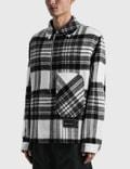We11done Check Anorak Wool Shirt Grey Men