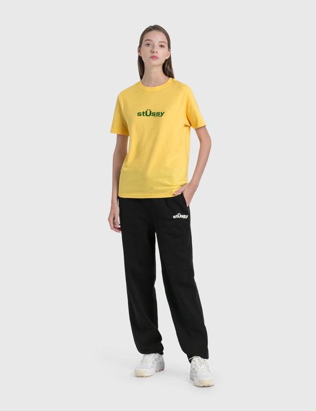 Stussy Big U T-Shirt Yellow Women