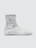 Maison Margiela Tabi Ankle Flat Boots - White Icons Picture