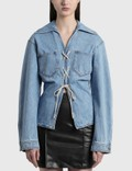 Nanushka ILA Lace-Up Denim Shirt Picutre
