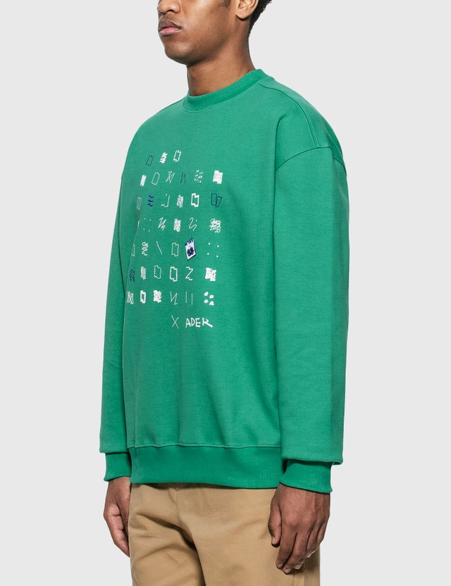 Ader Error Artwork Graphic Sweatshirt