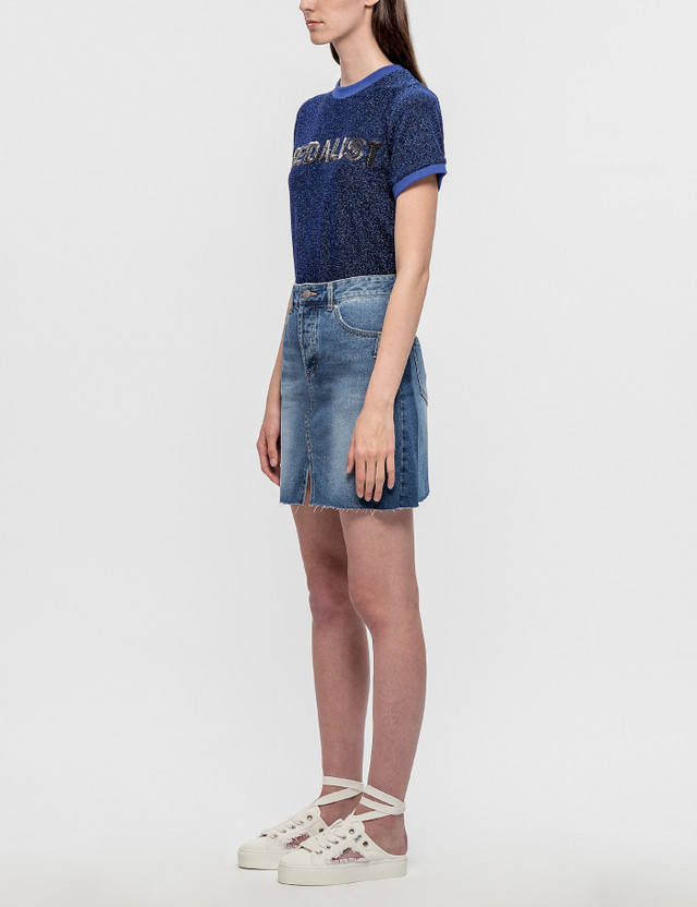 SJYP Cut Off Denim Skirt