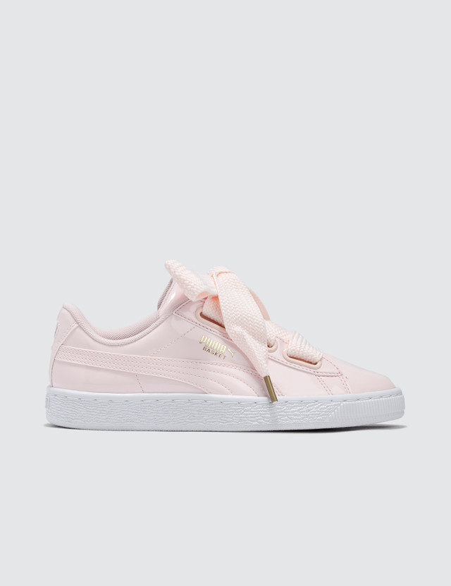 Puma Basket Heart Patent Pink Women