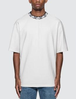 Acne Studios Face Motif Mock Neck T-Shirt