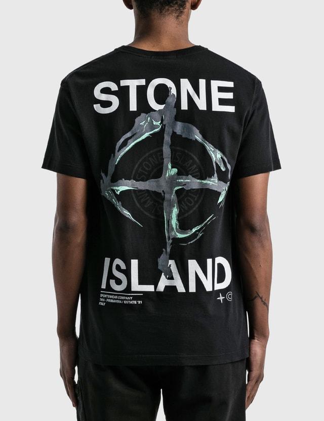 Stone Island Large Back Logo T-Shirt Black  Men