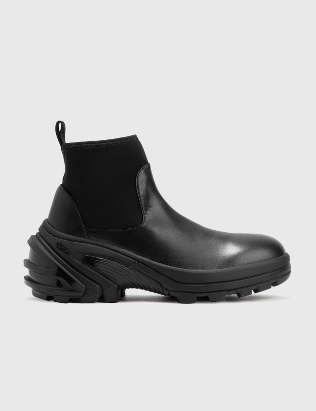 1017 ALYX 9SM Leather Mid Boot With Skx Sole Black Men