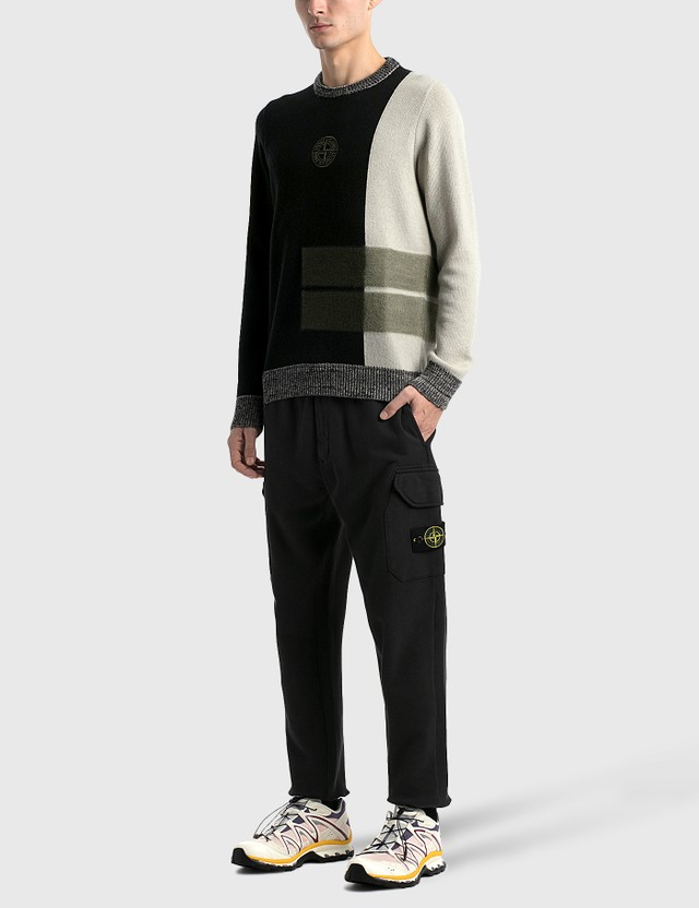 Stone Island Sweatpants Nero Men