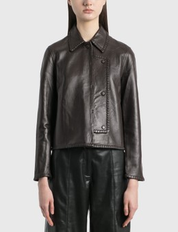 Ganni Stitch Leather Jacket