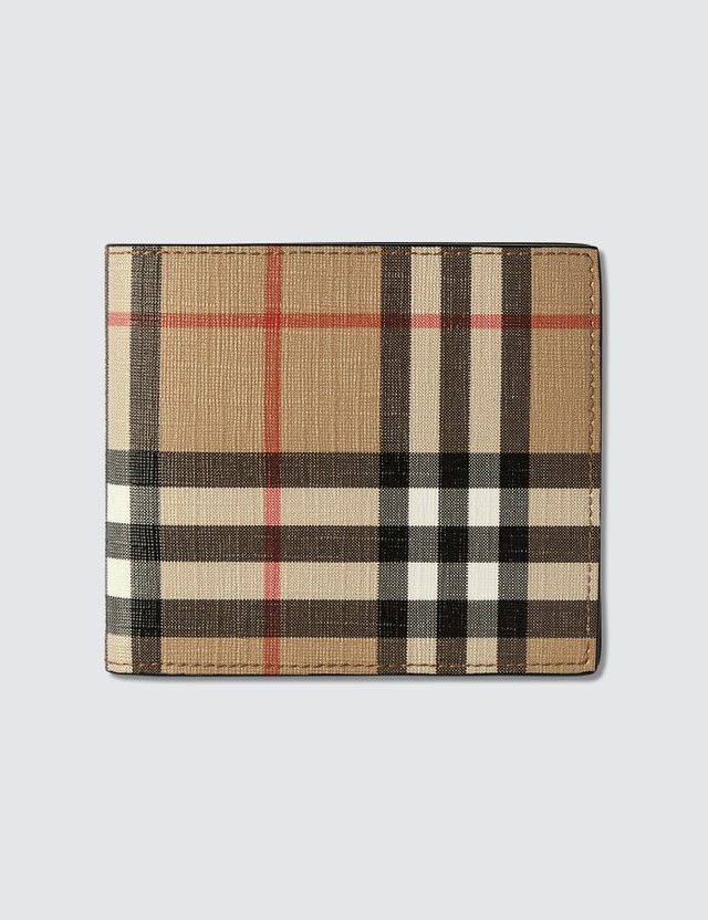Burberry Vintage Check Wallet With Photo Holder