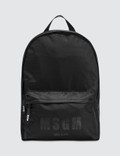 MSGM Logo Backpack Picture