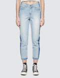 SJYP Side Two Tone Straight Jeans Picture