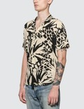 Saint Laurent Jungle Motif Short Sleeve Shirt