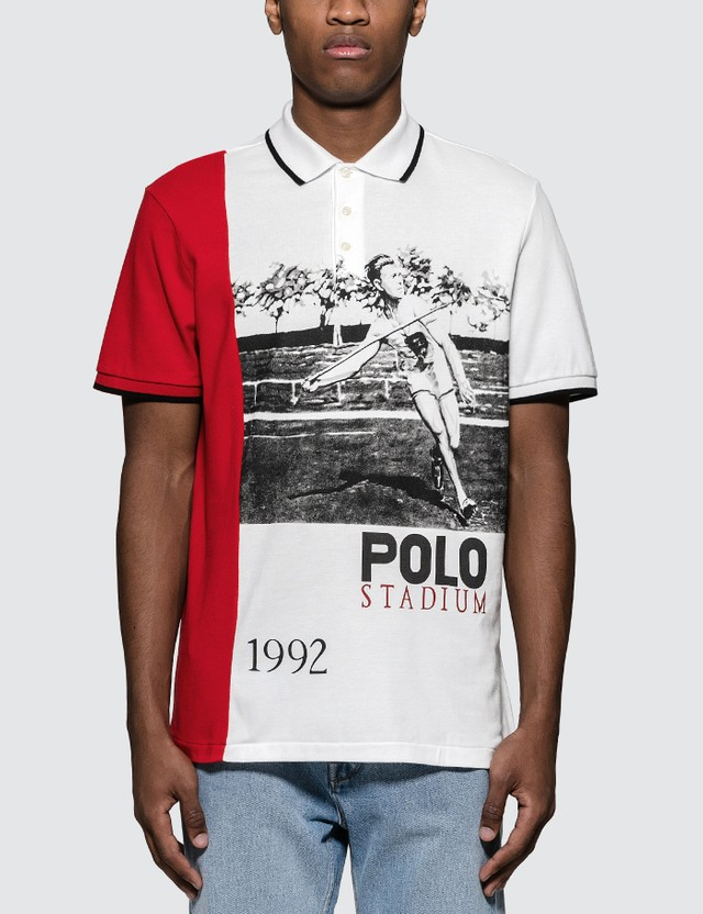 Polo Ralph Lauren Stadium Print Polo Shirt