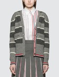 Thom Browne Wide Repp Stripe Relaxed Cardigan Picutre