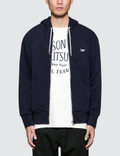 Maison Kitsune Tricolor Fox Patch Zip Hoodie Picture