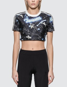 Adidas Originals Adidas Originals x Fiorucci Crop Graphic T-shirt