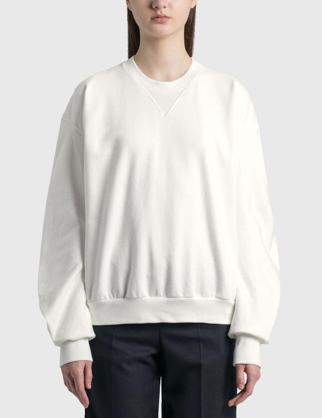 Maison Margiela Baggy Sleeve Sweatshirt Off White Women
