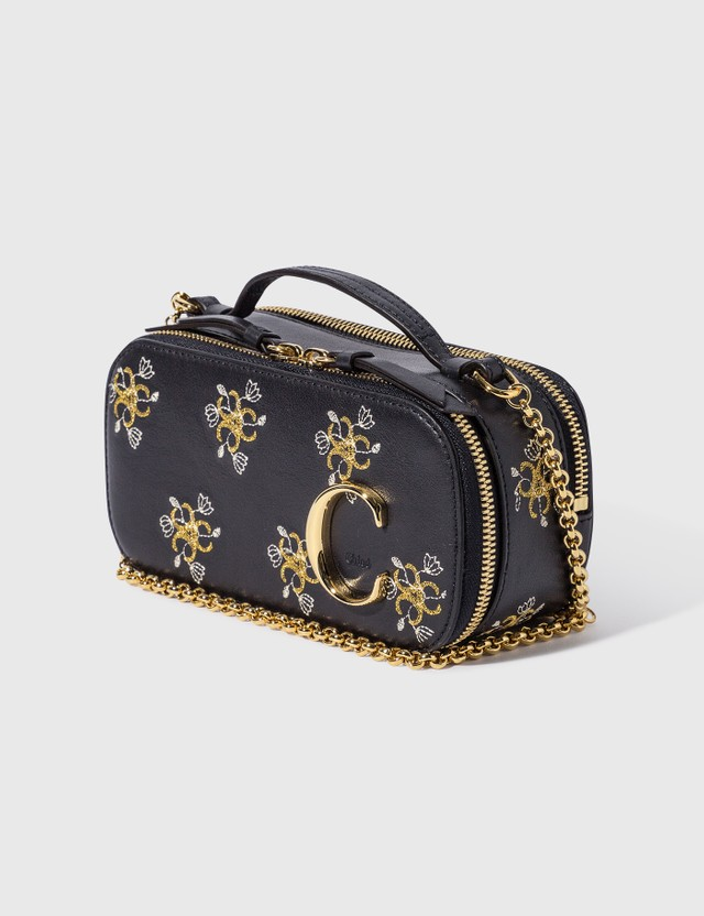 Chloé Chloé C Mini Vanity Bag With Embroidery