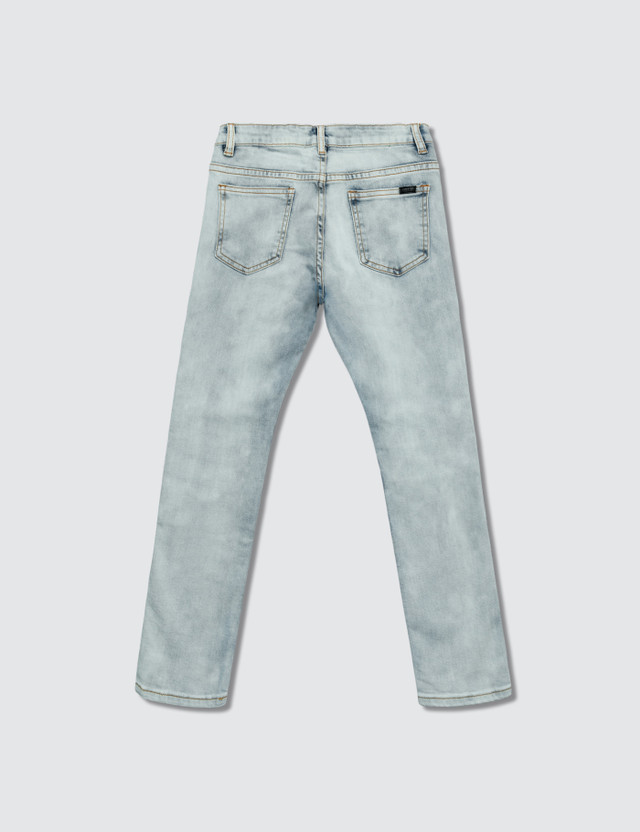 Haus of JR Landon Biker Denim Jeans White Kids