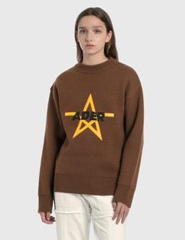 Ader Error Star Logo Oversized Knitted Sweater