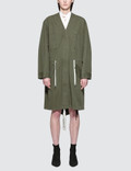 Alexander Wang.T Garment Washed Cotton Twill Jacket With Gathered Waist Picture