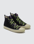 Lanvin Mid Top Sneaker Canvas E Velvet Black Men