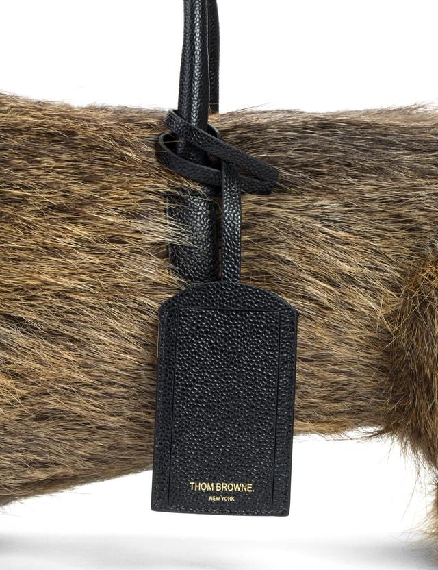 Thom Browne Natural Nutria Fur Hector Bag