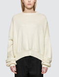 Unravel Project Terry Crewneck Open Back Sweatshirt Picture