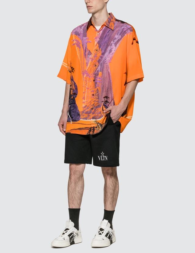 Valentino Yellow City Silk Shirt
